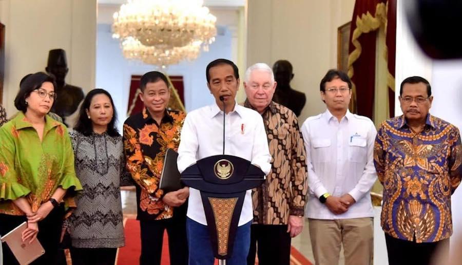 Melapor kepada Presiden RI Joko Widodo soal Freeport McMoran