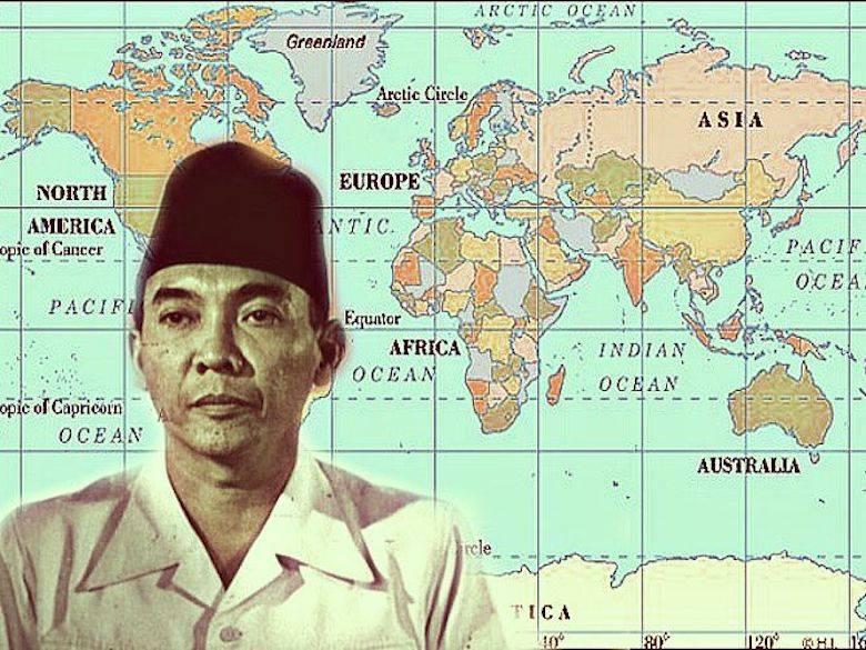 Presiden Soekarno dan Peta Dunia
