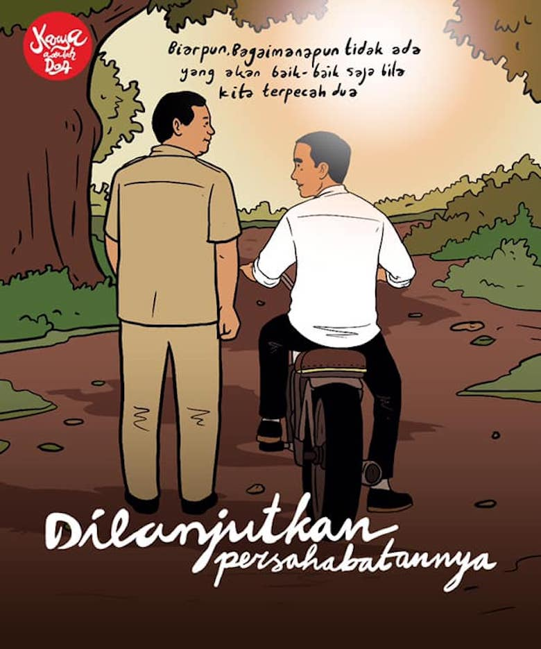Jokowi Melawan dengan Memangku