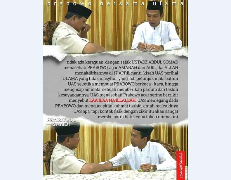Ustadz Abdul Somad, Sinyal Langit untuk Prabowo!