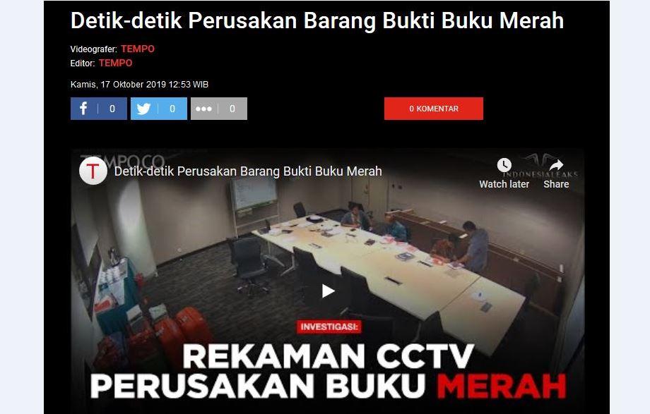 Misteri Buku Merah KPK Kembali, Cicak vs Buaya Jilid Baru?
