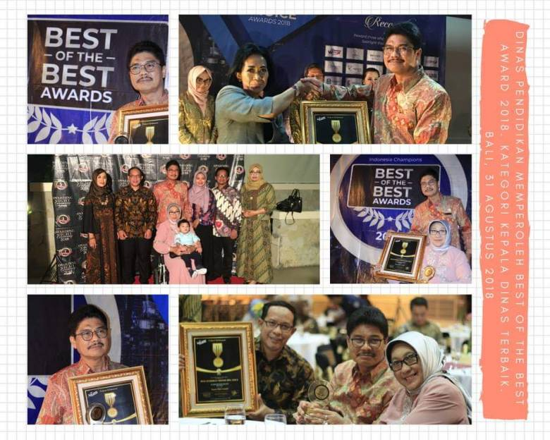 """Best of The Best Award 2018"" Kategori Kepala Dinas Terbaik"