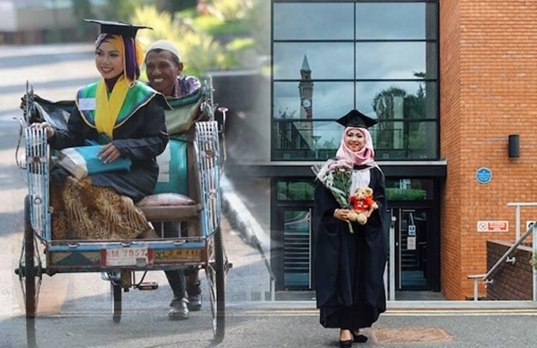 Puteri Penarik Becak Itu Kini Kuliah Tingkat Doktor/S3 di University of Birmingham