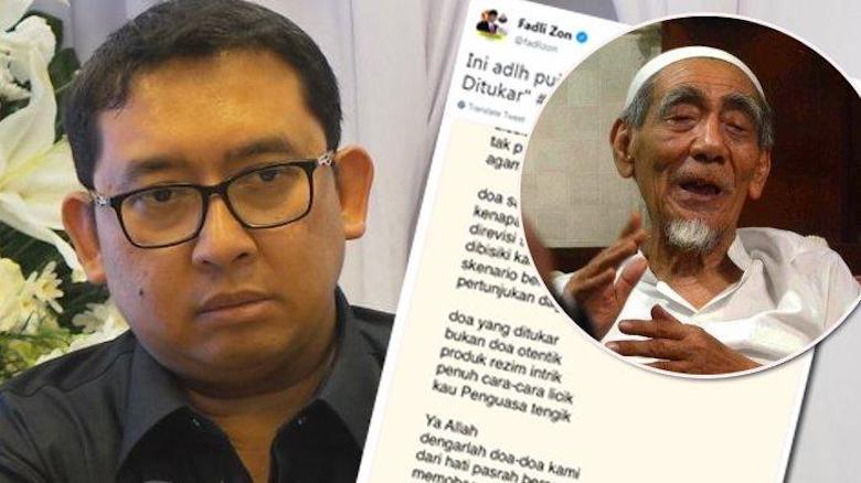 Fadli Zon Jelas Hina Mbah Moen, Apa Tindakan Prabowo?