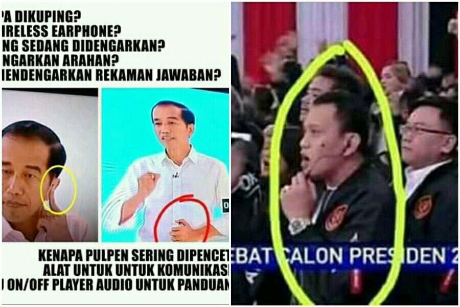 Inilah Beberapa Alat Rahasia Jokowi saat Debat Capres!