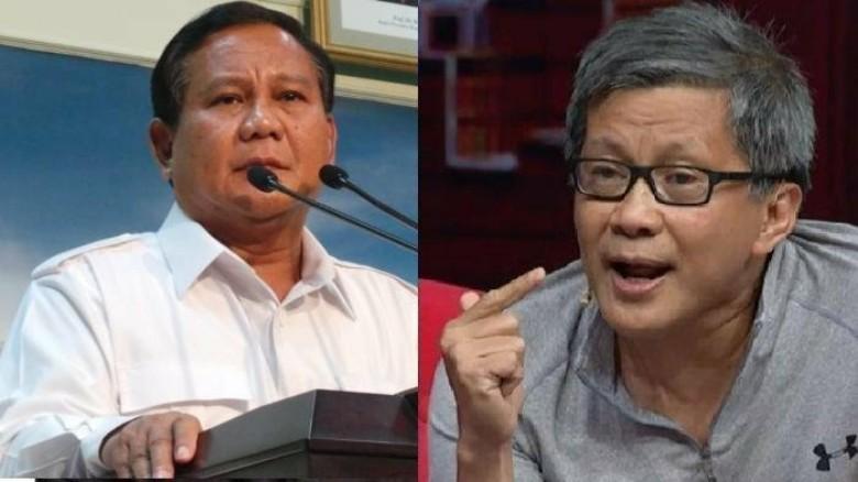Cara Rocky Gerung Luapkan Kekecewaan pada Prabowo