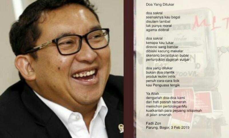 Fadli Zon di Antara Puisi dan Fungsi Legislasi