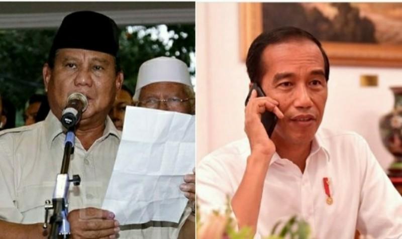 Prabowo Deklarasi Kemenangan, Jokowi yang Terima Ucapan