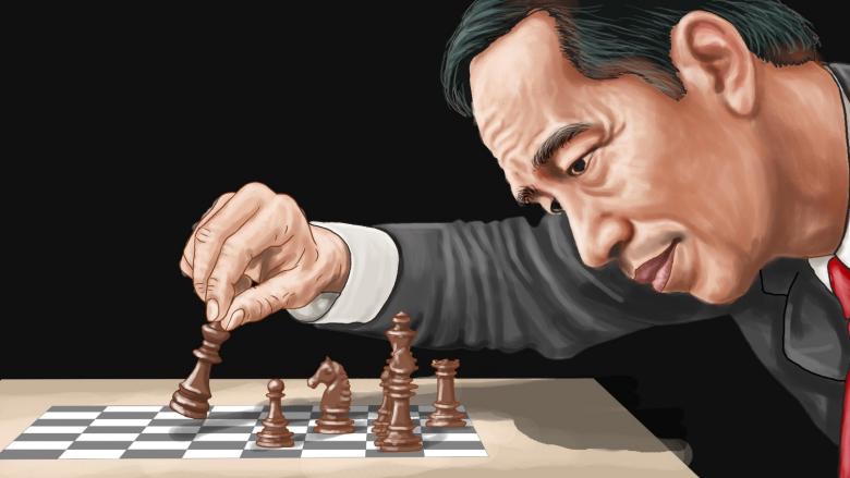 Politik Catur Jokowi, Semak Dipukul Ular Keluar
