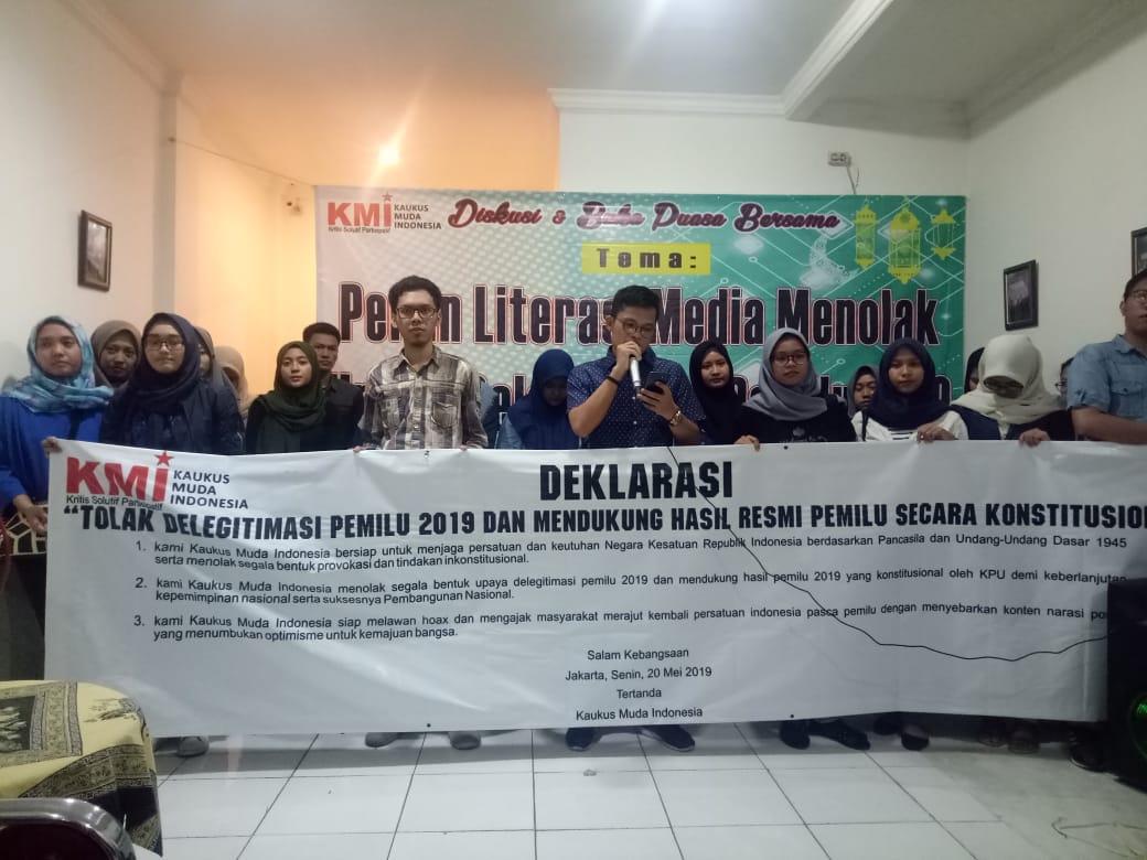 "KMI Deklarasikan ""Tolak Delegitimasi Pemilu 2019"""