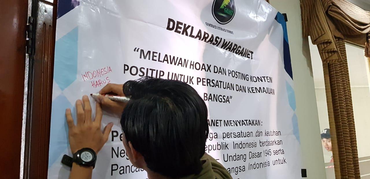 GESIT Deklarasikan Gerakan Posting Konten Positi Melawan Lawan Hoax dan Radikalisme
