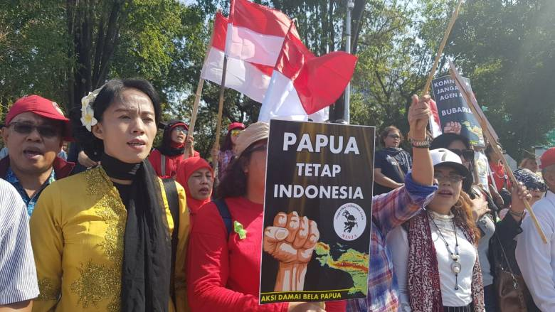 Aksi Dukung Pemerintah Ciptakan Papua yang Damai