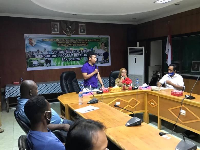 Dukung Program Ketahanan Pangan, Stafsus Billy Luncurkan Program Petani Milenial Papua