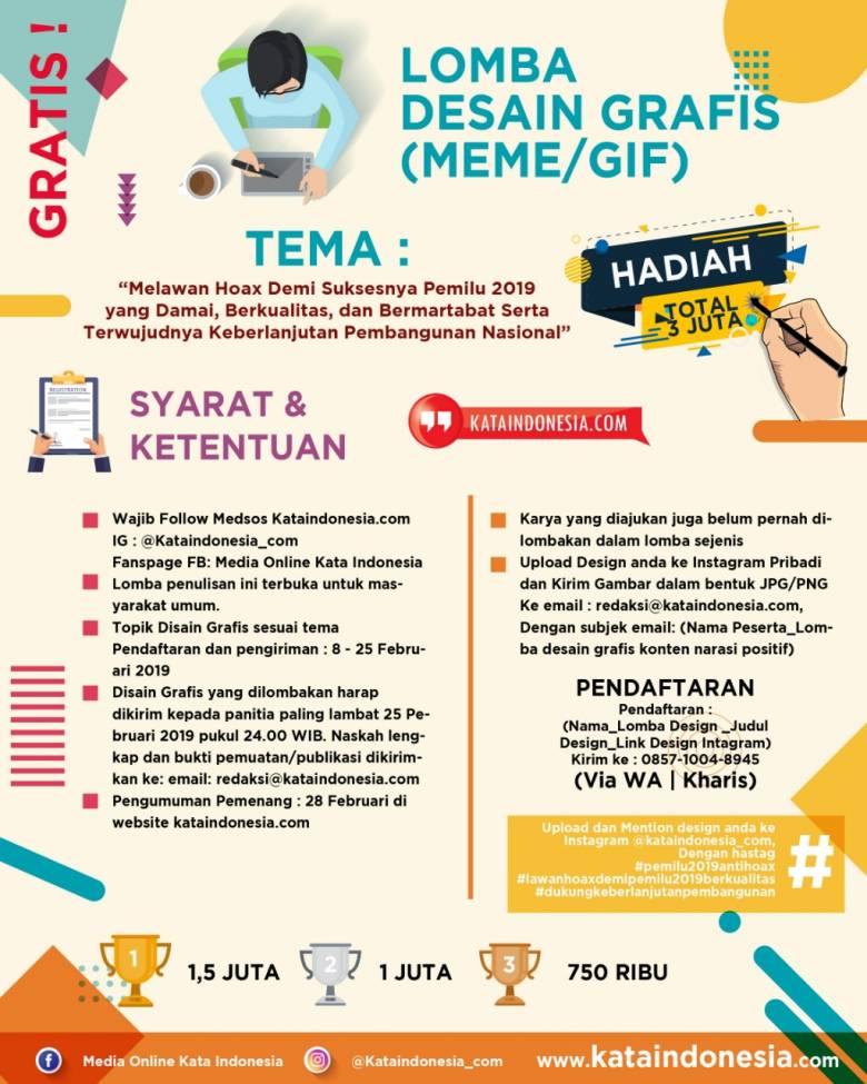 """Media """"Kata Indonesia"""" Selenggarakan Kompetisi Netizen, Total Hadiah 10 Juta!"""