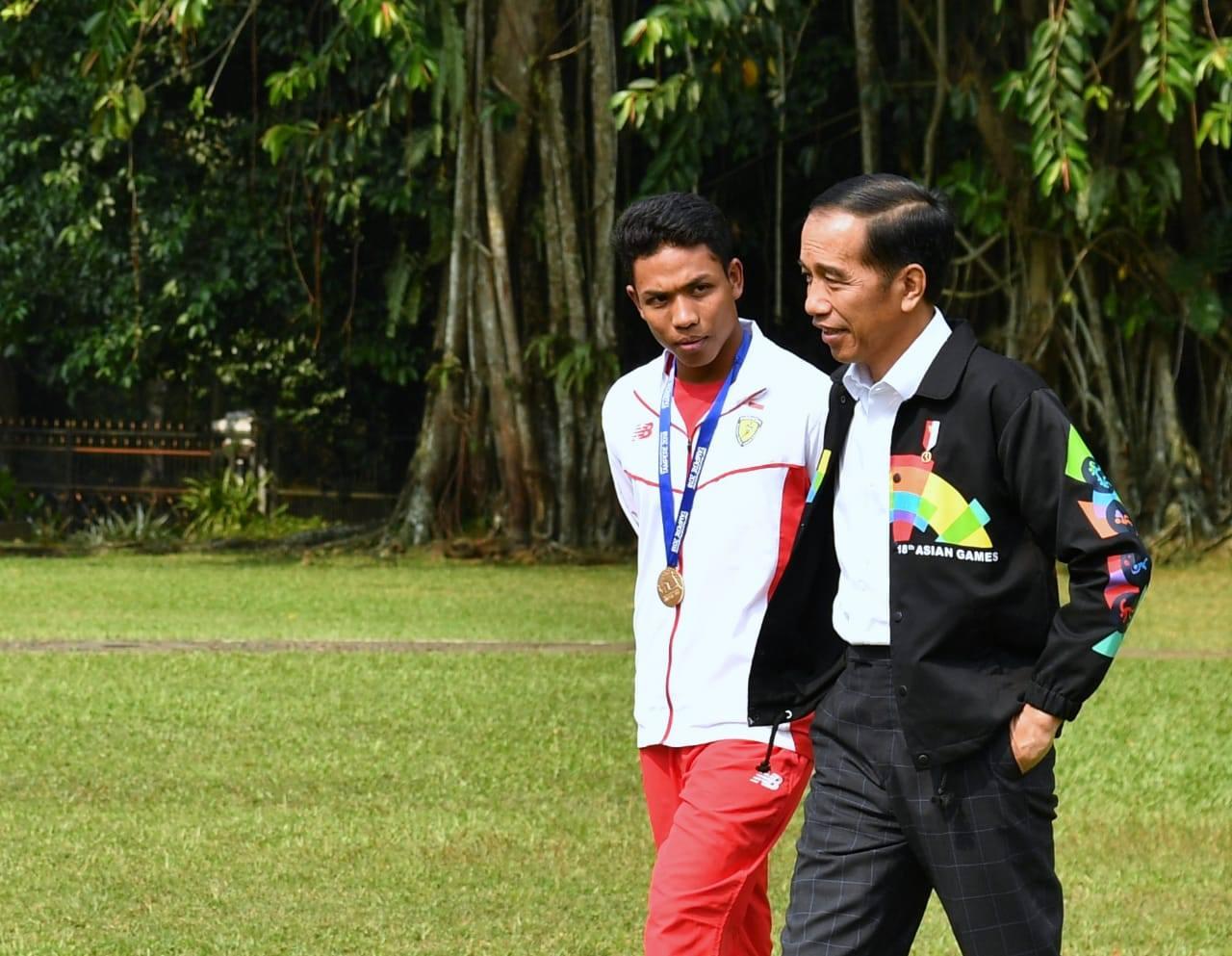 Presiden Jokowi Sebut Lalu Muhammad Zohri sebagai Orang Besar